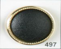 Black ABS/Polyamide Button