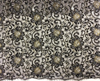 Metallic French Chantilly Lace
