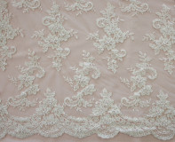 Beaded Embroidered Tulle