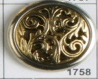 Antique Gold ABS/Polymide Button