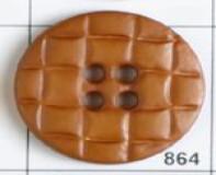 Brown Polyamide Button