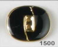 Navy Full Metal Enameled Button