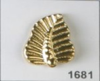 Gold Polyamide Button