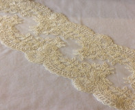 Re-embroidered Lace Trim - Ivory