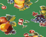 Oilcloth - Pears and Apples Green