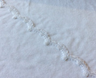 Re-embroidered Lace Trim - White